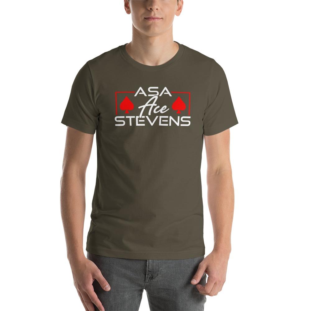 """Asa """"Ace"""" Stevens, Men's T-shirt, White Logo"""