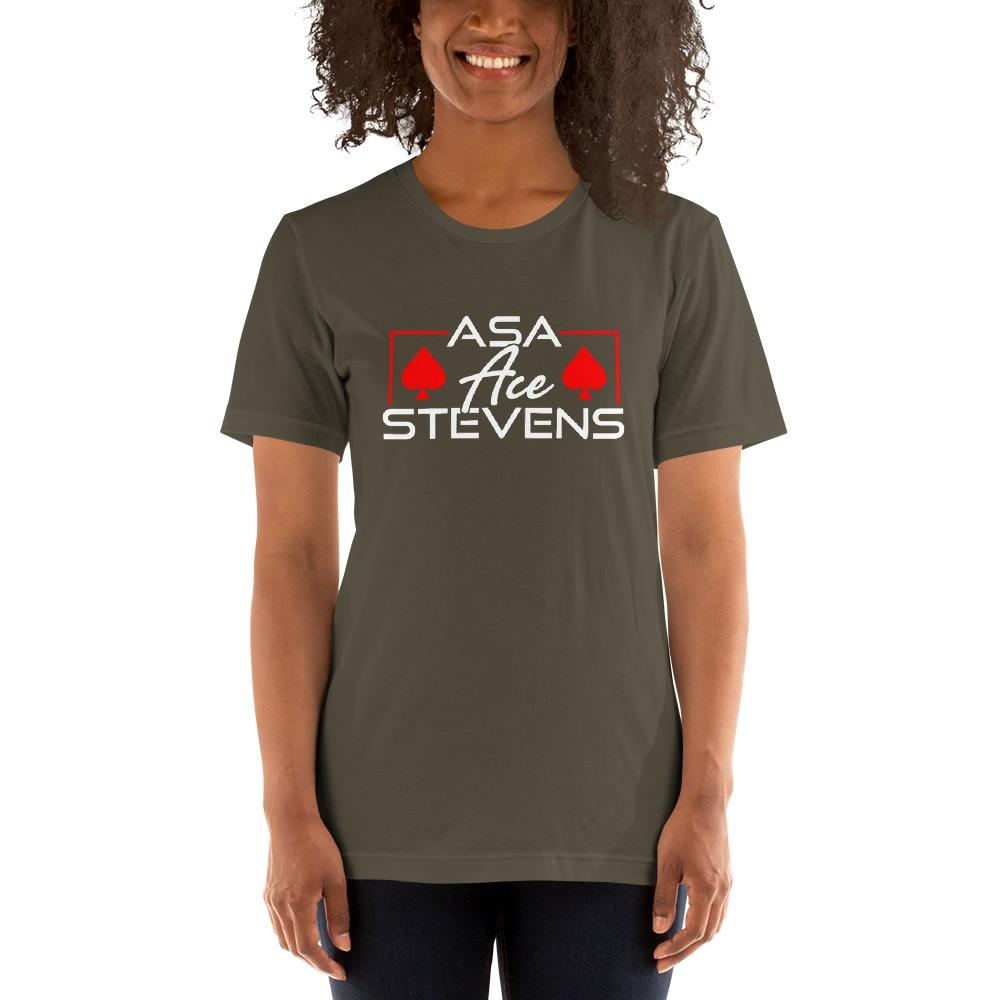 """Asa """"Ace"""" Stevens, Women's T-shirt, White Logo"""