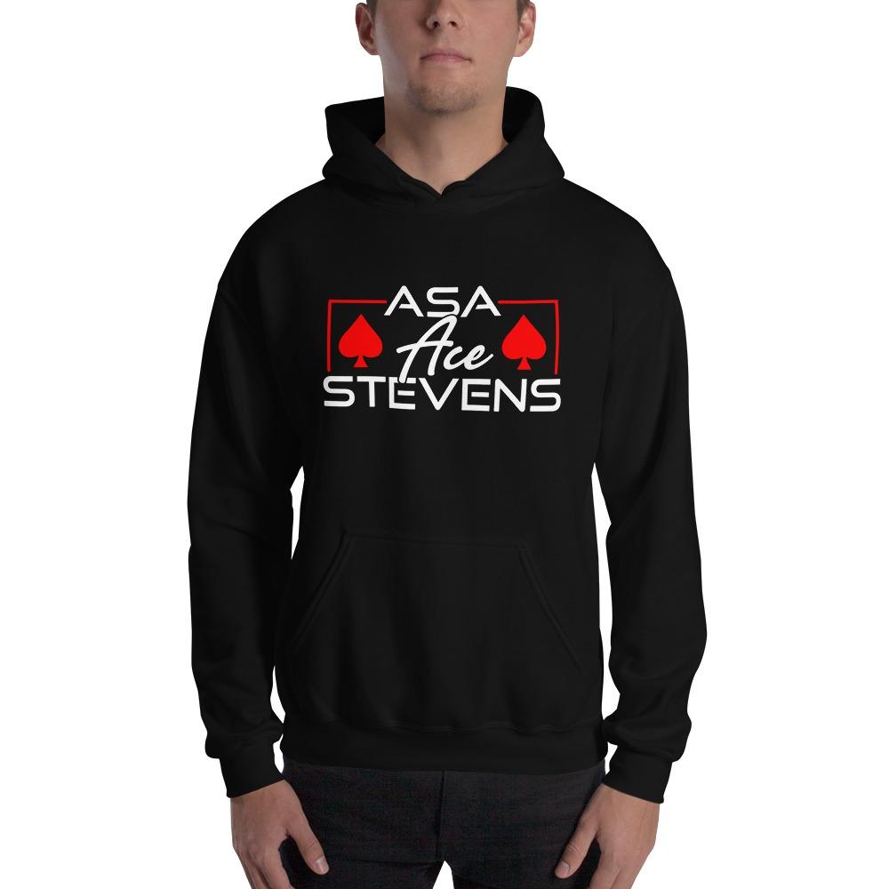 """Asa """"Ace"""" Stevens, Men's Hoodie, White Logo"""