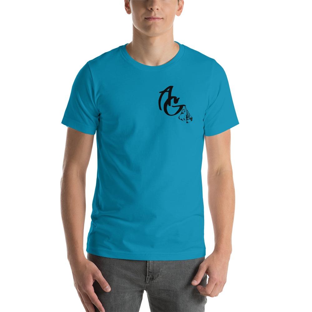 Amanda Galle Men's T-Shirt, Black Mini Logo