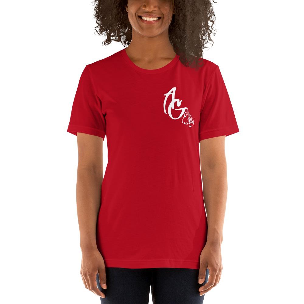 Amanda Galle Women's T-Shirt, White Mini Logo