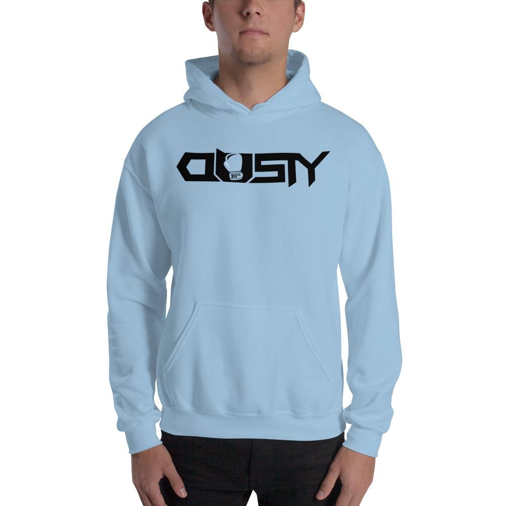 """Dusty 30th"" by Dusty Hernandez, Men's Hoodie, Black Logo"