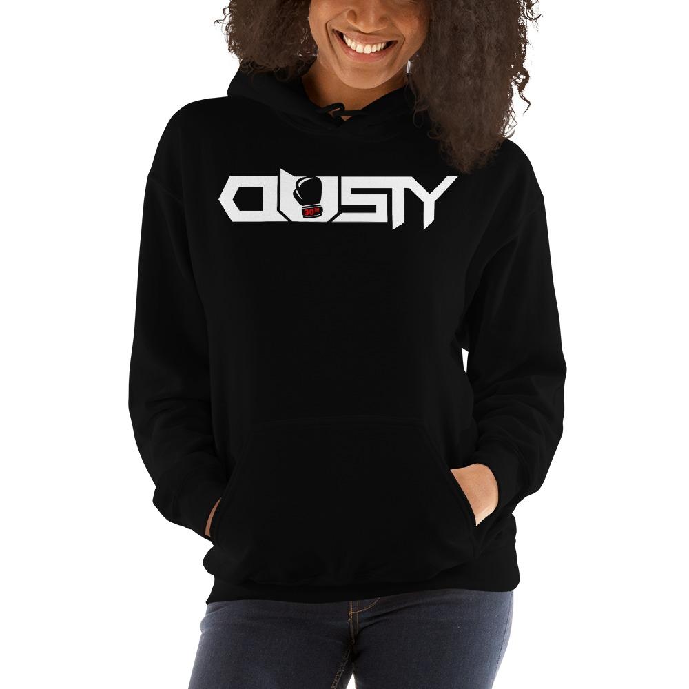 """""""Dusty 30th"""" by Dusty Hernandez, Women's Hoodie, White Logo"""