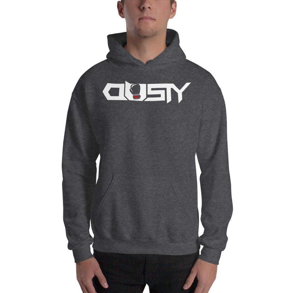 """""""Dusty 30th"""" by Dusty Hernandez, Men's Hoodie, White Logo"""