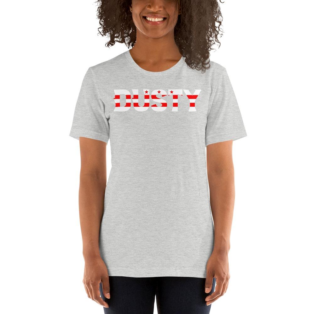 """""""Dusty 30th"""" by Dusty Hernandez, Women's T-Shirt, DC Logo"""