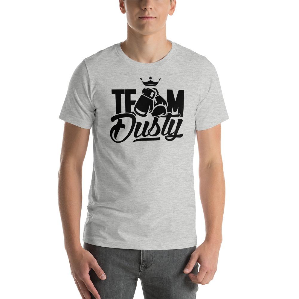 Team Dusty by Dusty Hernandez, Men's T-Shirt, Black Logo