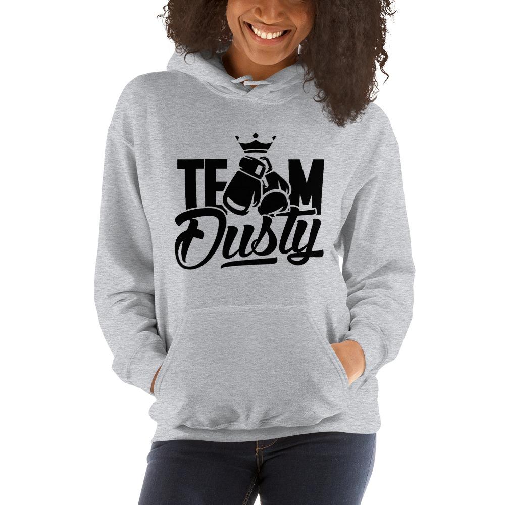 Team Dusty by Dusty Hernandez, Women's Hoodie, Black Logo