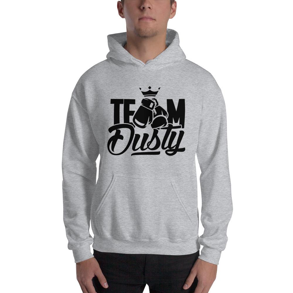 Team Dusty by Dusty Hernandez, Men's Hoodie, Black Logo