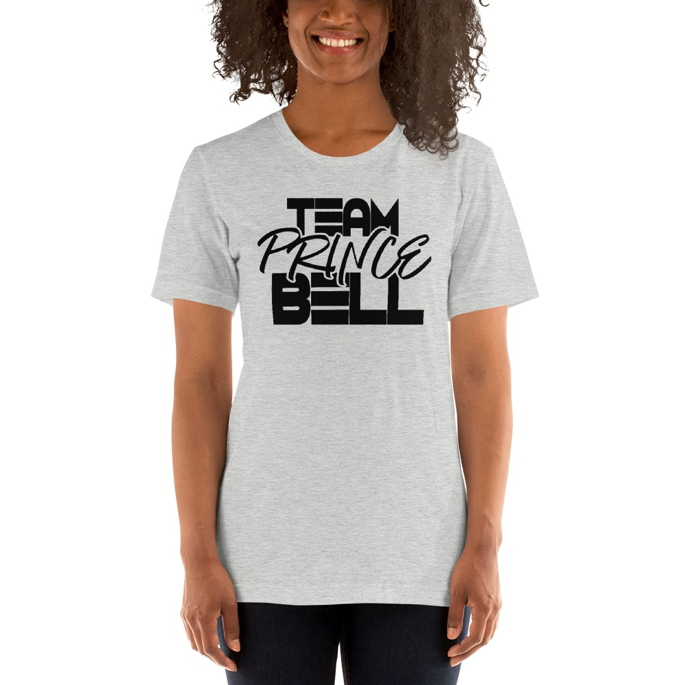 """""""Team Prince Bell"""" by Albert Bell, Women's T-Shirt, Black Logo"""