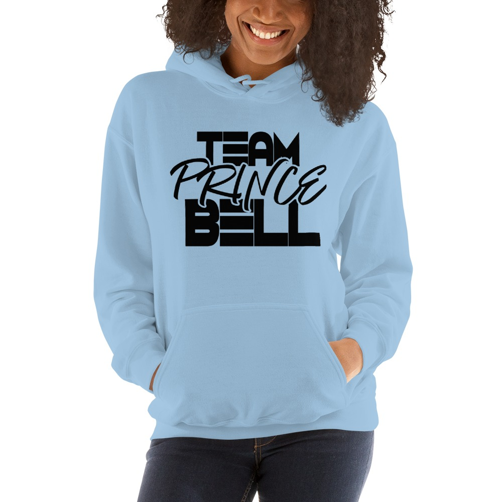 """""""Team Prince Bell"""" by Albert Bell, Women's Hoodie, Black Logo"""
