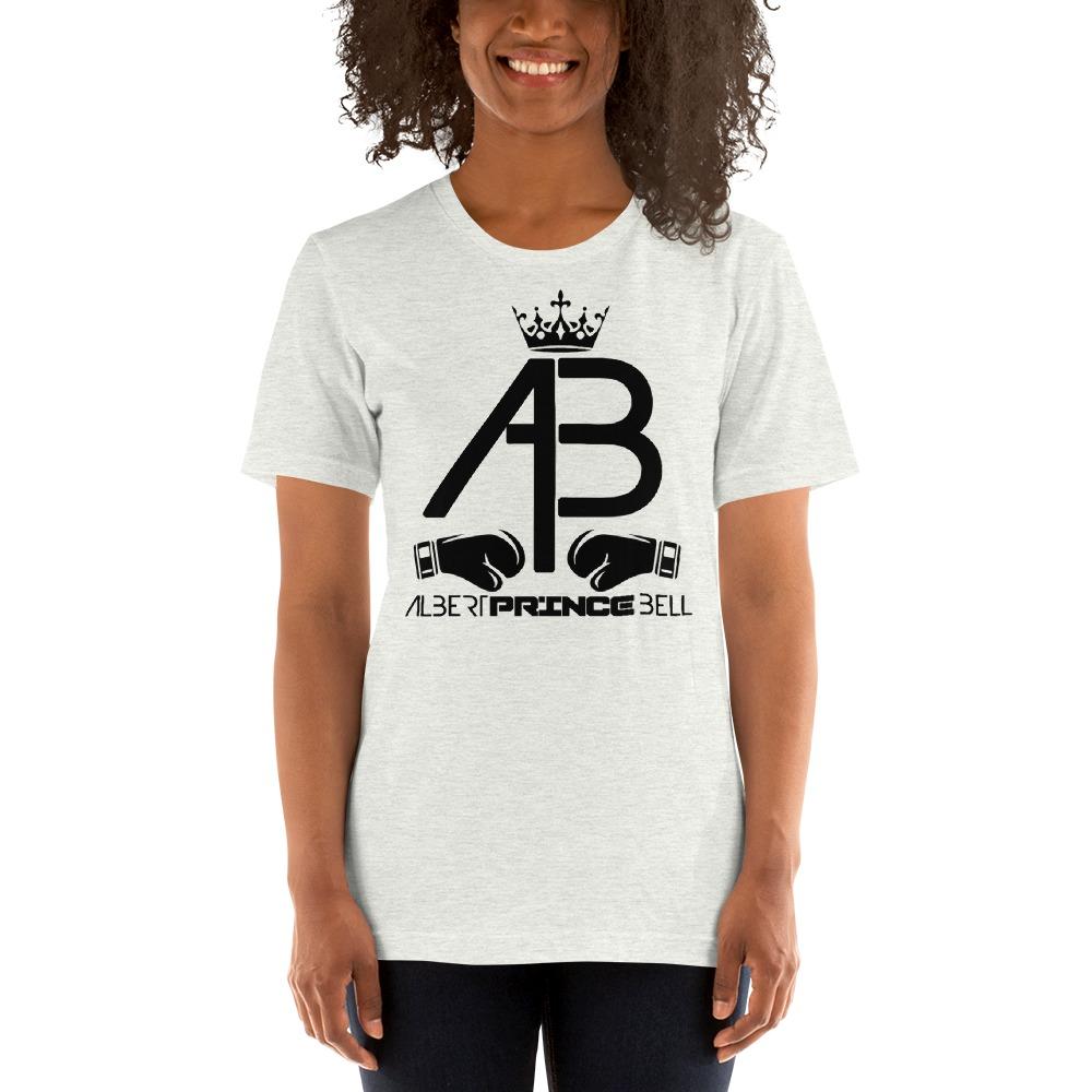 AB Crown by Albert Bell, Women's T-Shirt, Black Log