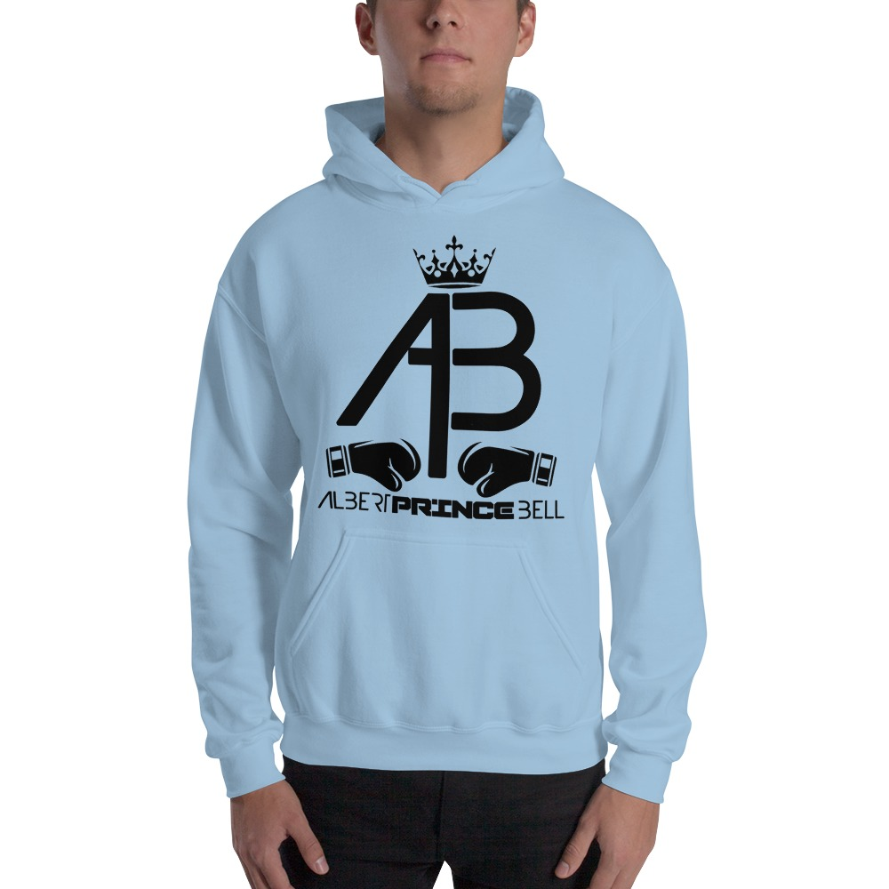 AB Crown by Albert Bell, Men's Hoodie, Black Logo