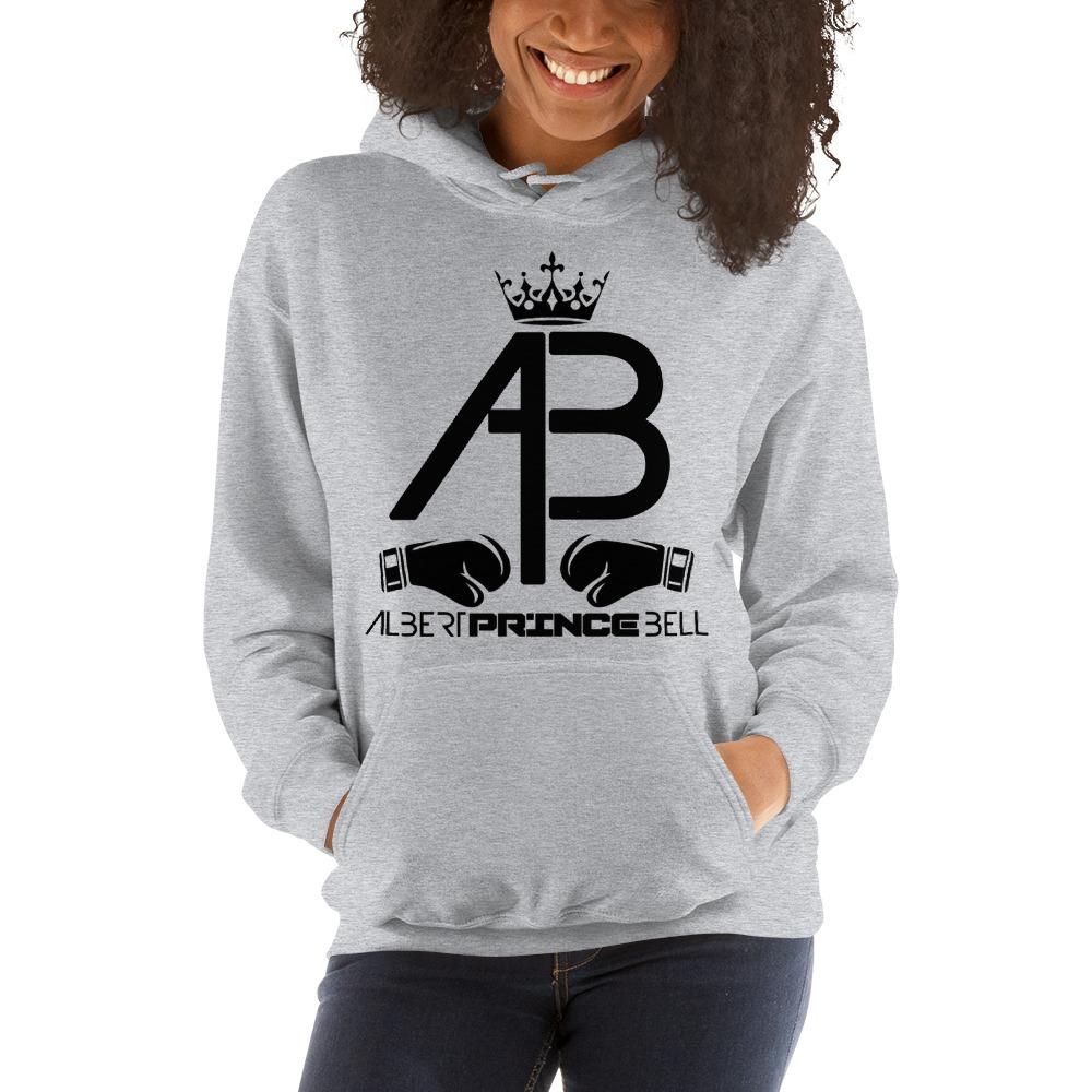 AB Crown by Albert Bell, Women's Hoodie, Black Logo