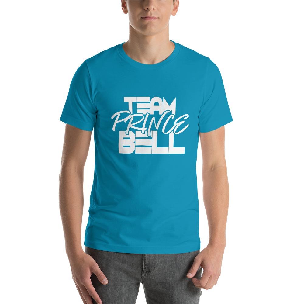 """""""Team Prince Bell"""" by Albert Bell, Men's T-Shirt, White Logo"""