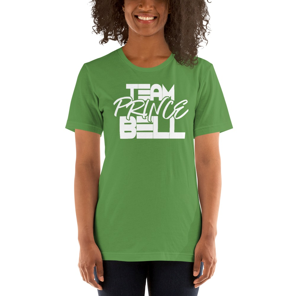 """Team Prince Bell"" by Albert Bell, Women's T-Shirt, White Logo"