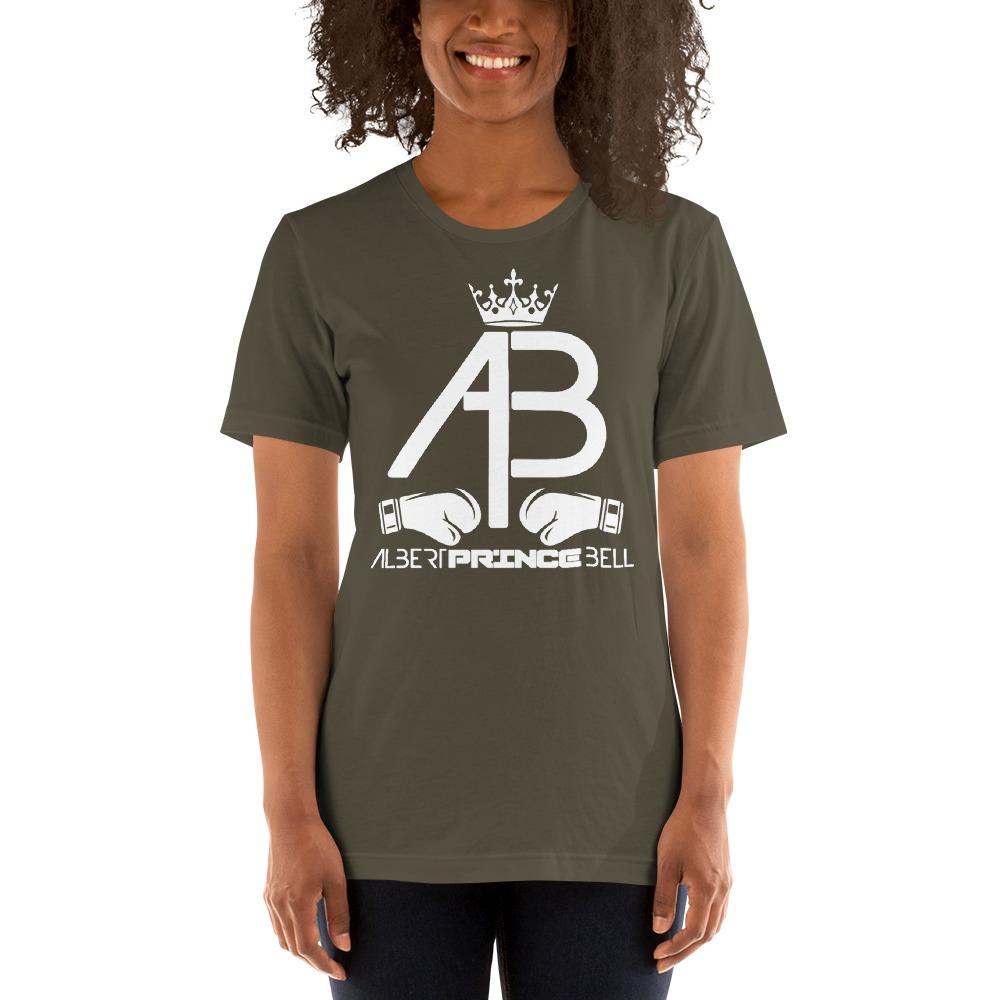 AB Crown by Albert Bell, Women's T-Shirt, White Logo