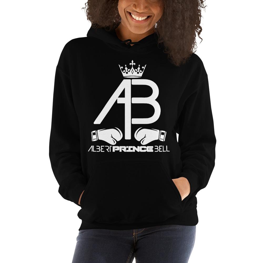 AB Crown by Albert Bell, Women's Hoodie, White Logo