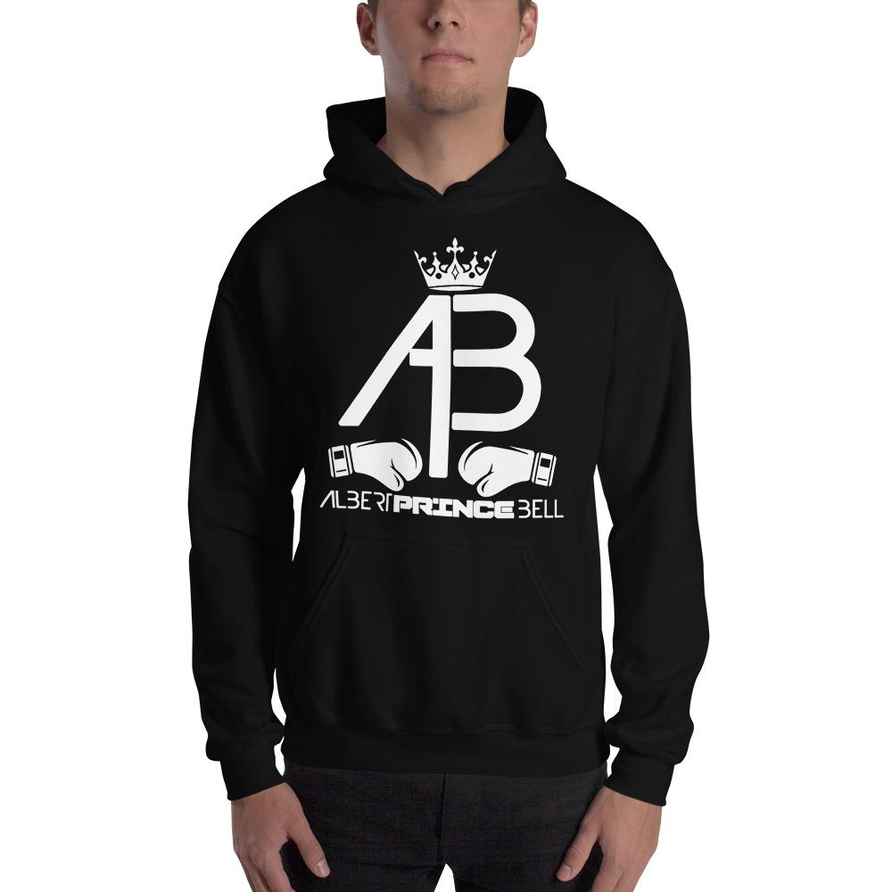 AB Crown by Albert Bell, Men's Hoodie, White Logo