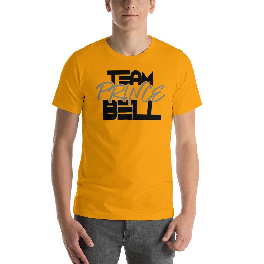 """Team Prince Bell"" by Albert Bell Men's T-Shirt, Black and Grey Logo"