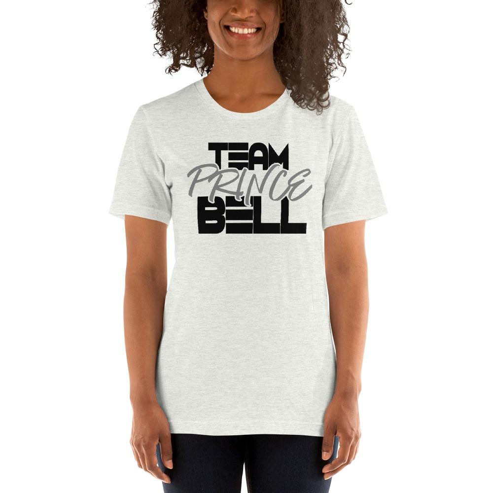 """Team Prince Bell"" by Albert Bell Women's T-Shirt, Black and Grey Logo"