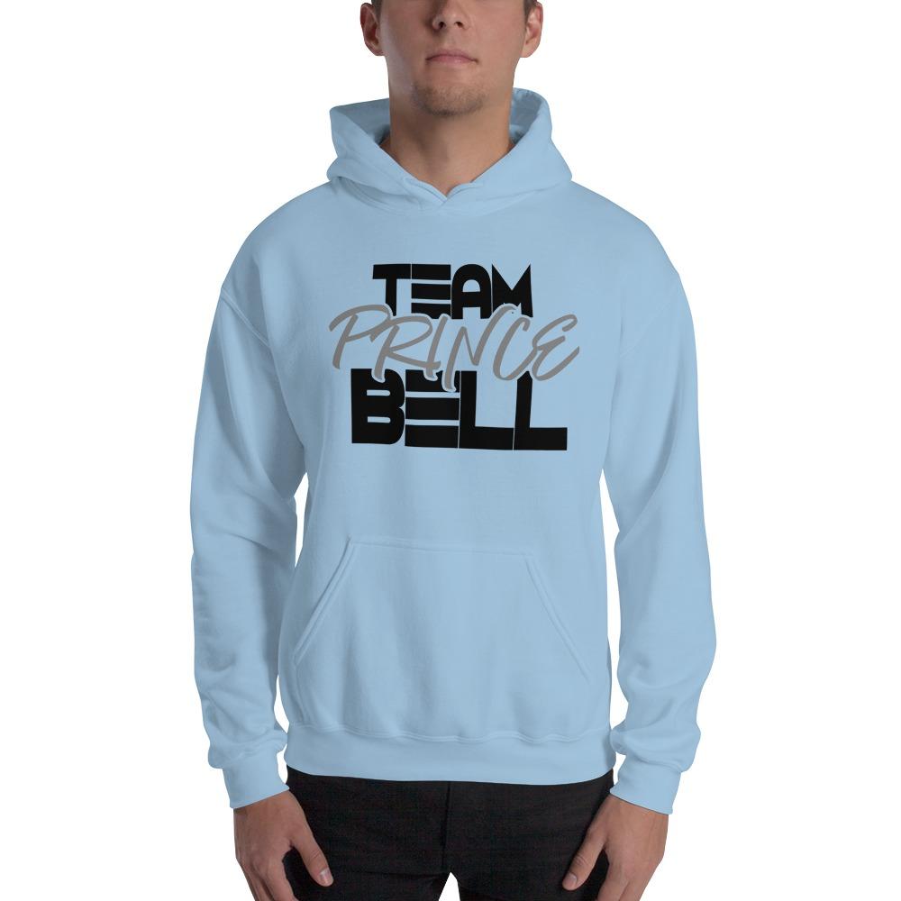 """""""Team Prince Bell"""" by Albert Bell Men's Hoodie, Black and Grey Logo"""
