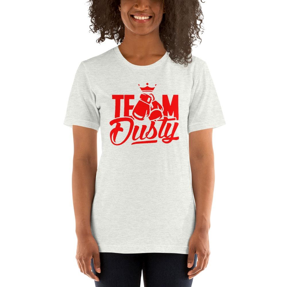 Team Dusty by Dusty Hernandez, Women's T-Shirt, Red Logo