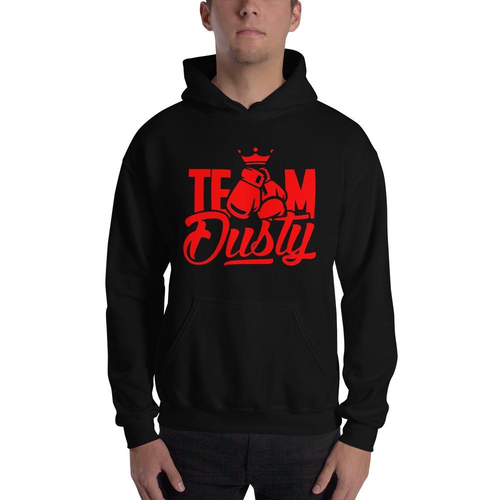 Team Dusty by Dusty Hernandez, Men's Hoodie, Red Logo