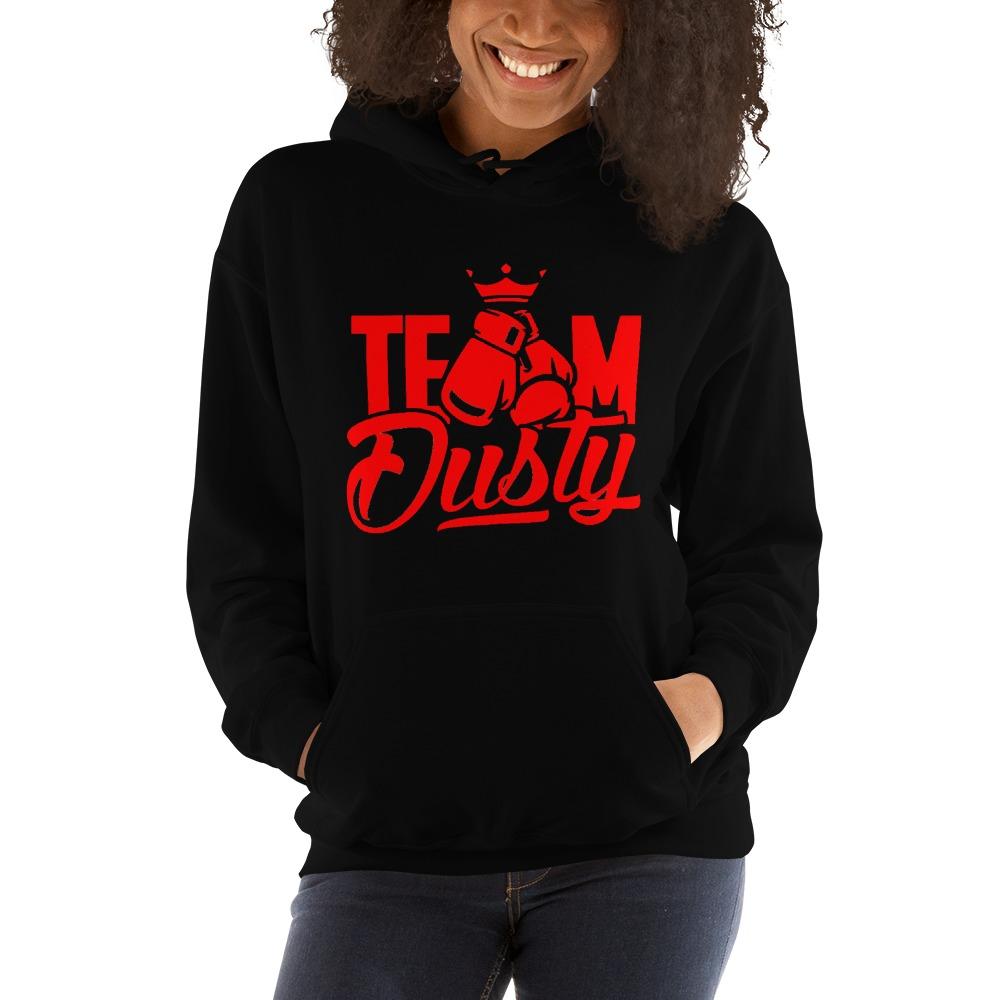 Team Dusty by Dusty Hernandez, Women's Hoodie, Red Logo