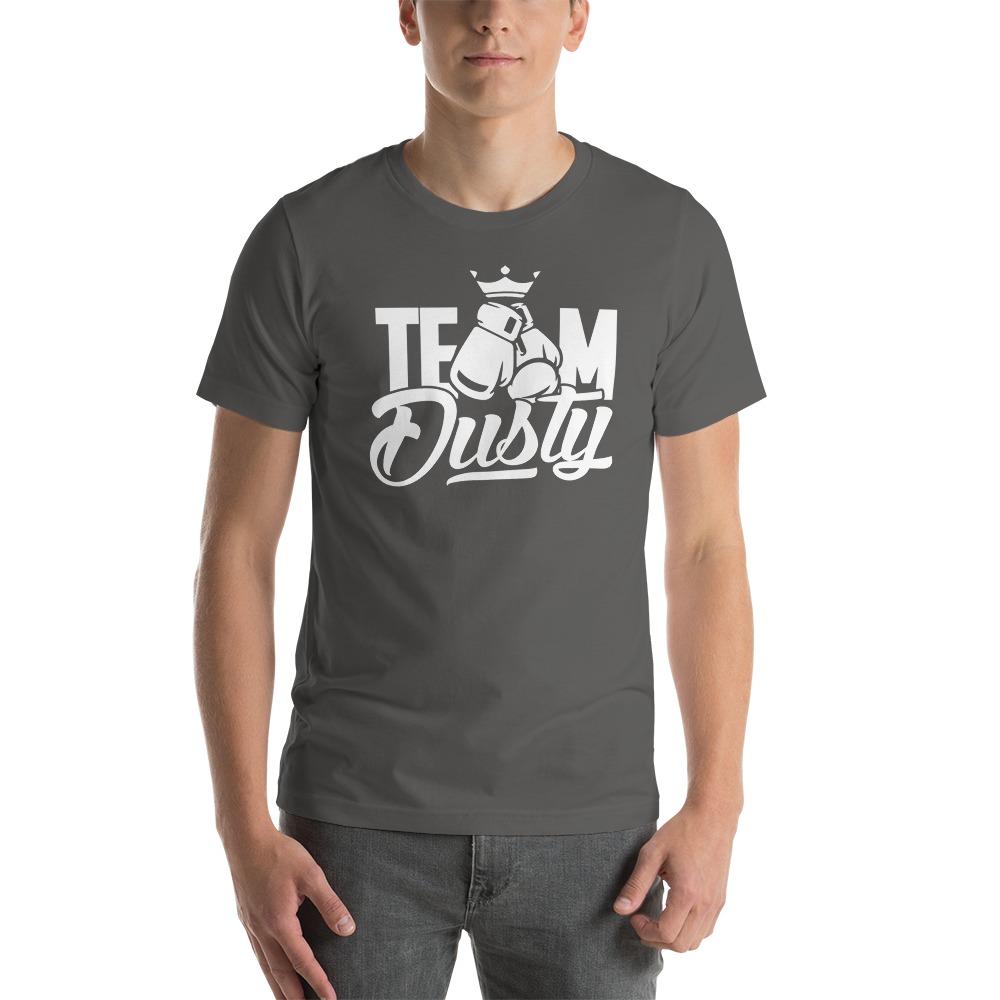 Team Dusty by Dusty Hernandez, Men's T-Shirt, White Logo