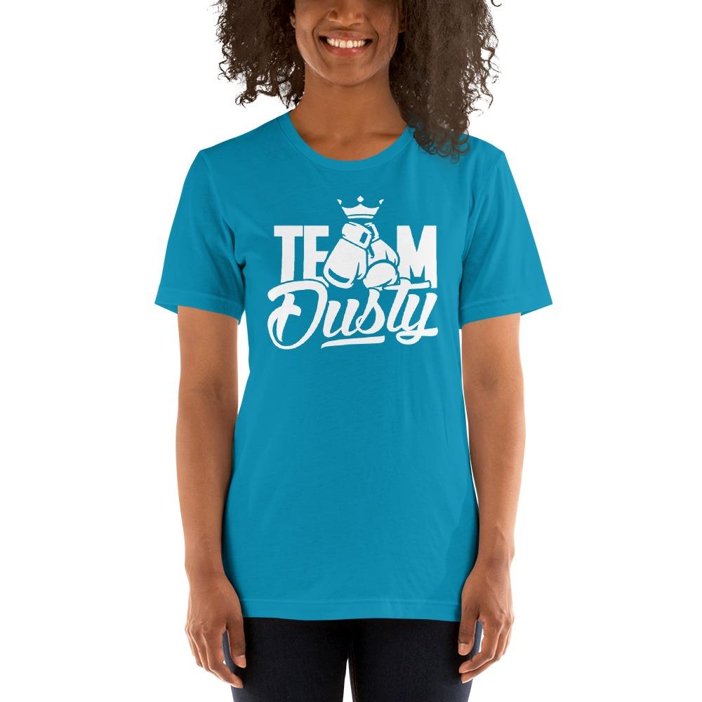 Team Dusty by Dusty Hernandez, Women's T-Shirt, White Logo