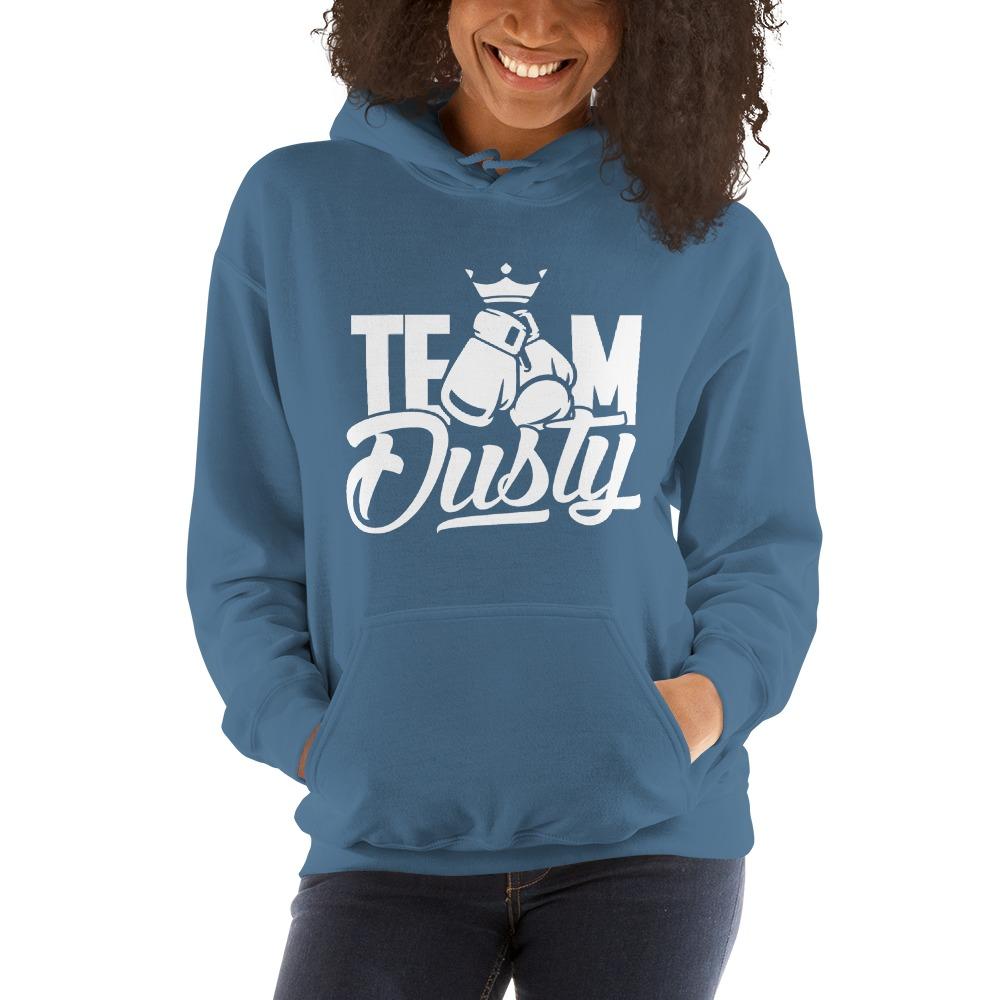 Team Dusty by Dusty Hernandez, Women's Hoodie, White Logo