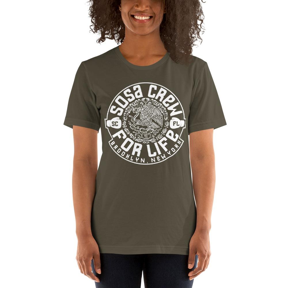 """Sosa Crew"" By Aureliano Sosa Women's T-Shirt White Logo"