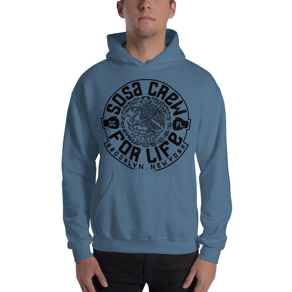 """Sosa Crew"" By Aureliano Sosa Men's Hoodie Black Logo"