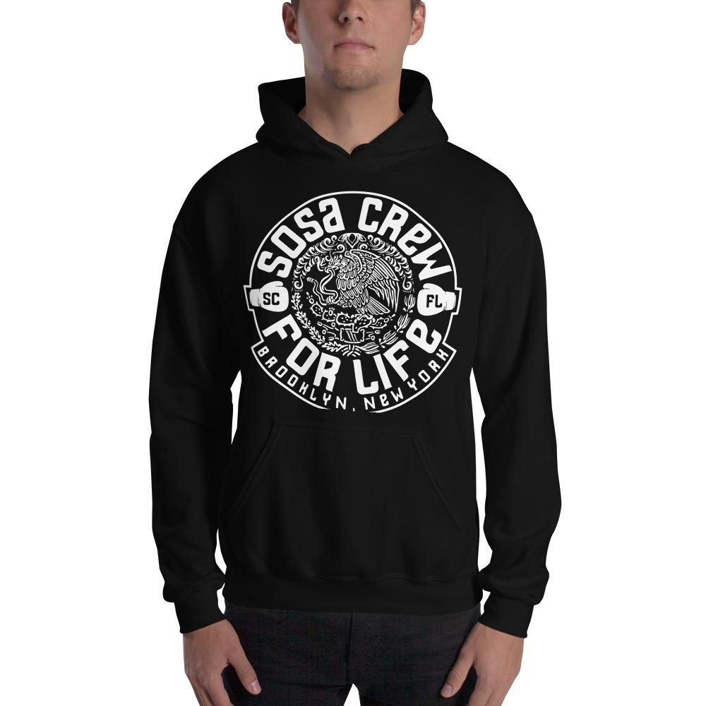 """Sosa Crew"" By Aureliano Sosa Men's Hoodie White Logo"