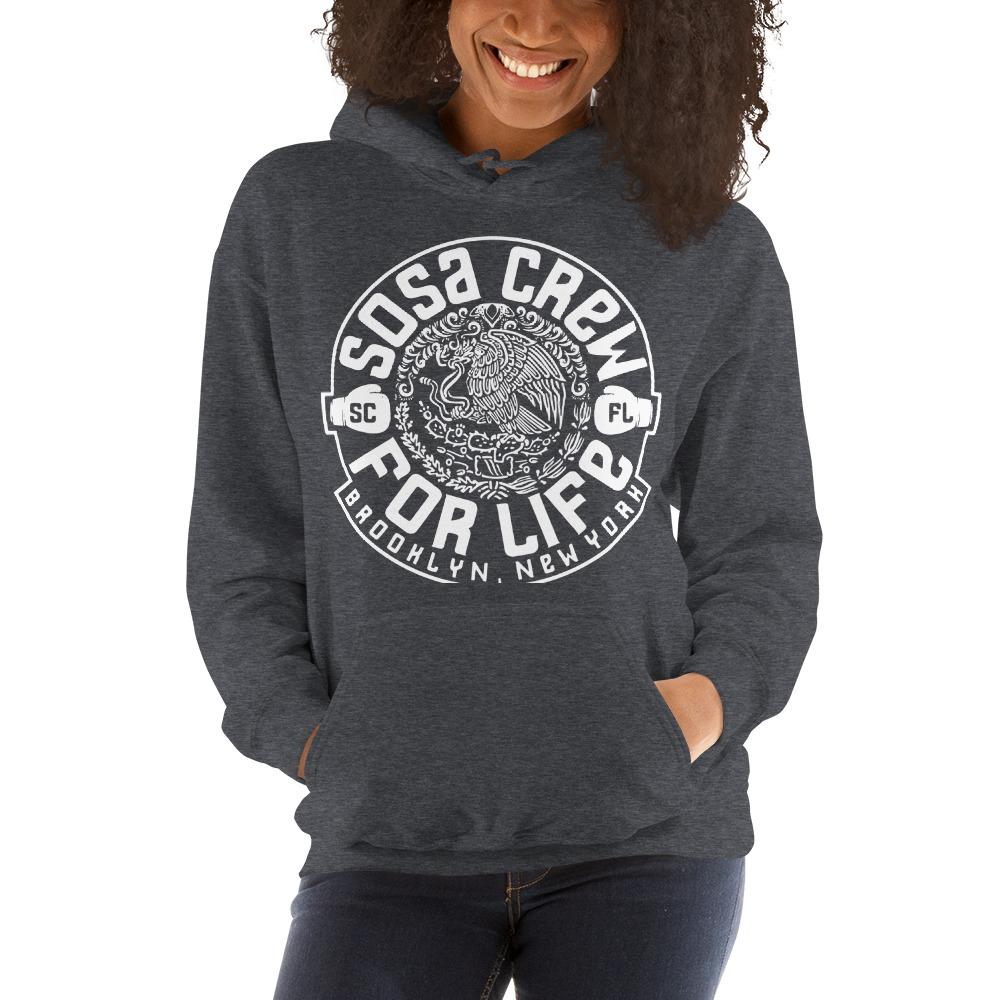 """Sosa Crew"" By Aureliano Sosa Women's Hoodie White Logo"