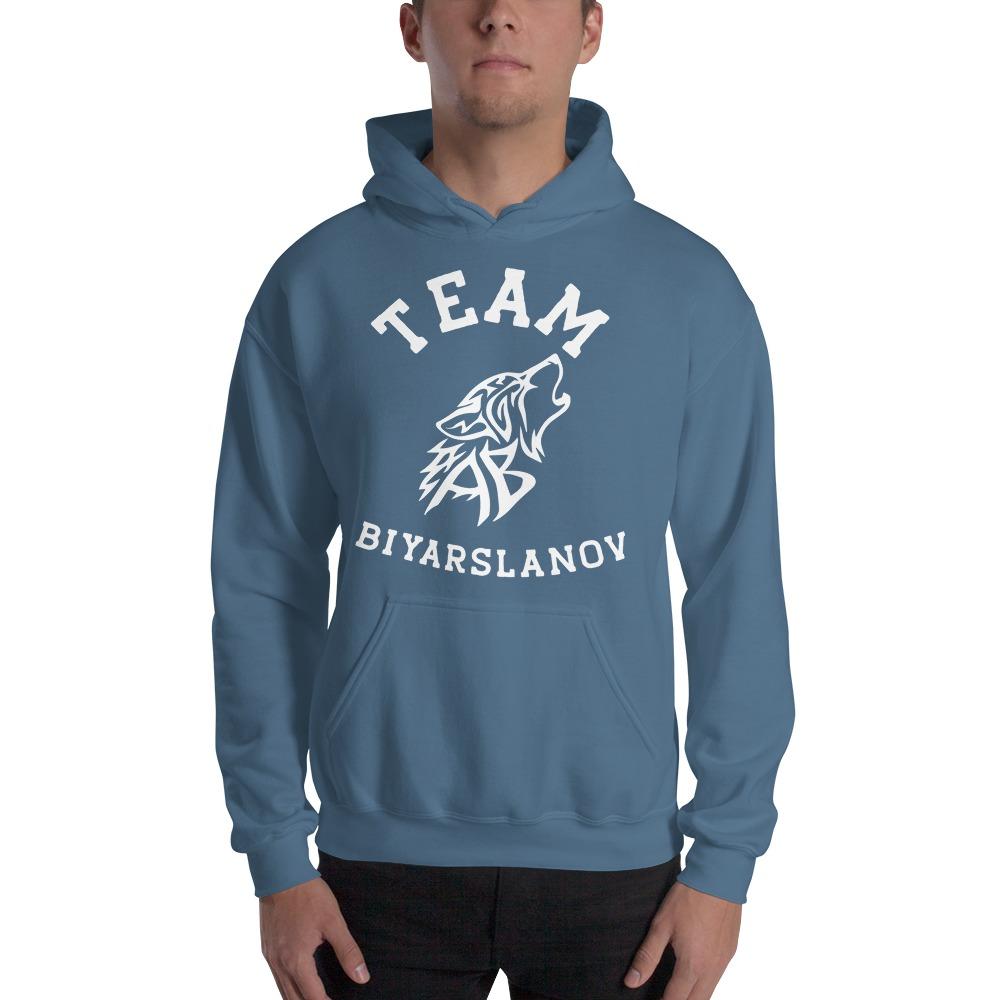 Team Biyarslanov Men's Hoodie, White Logo