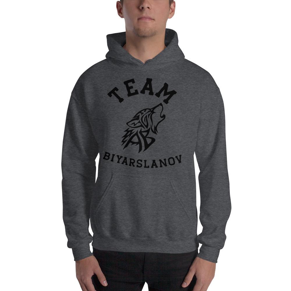 Team Biyarslanov Men's Hoodie, Black Logo