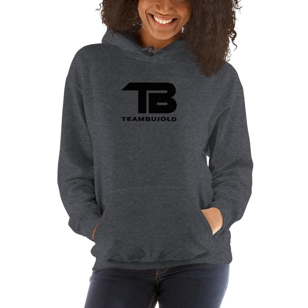 Team Bujold Women's Hoodie, All Black Logo