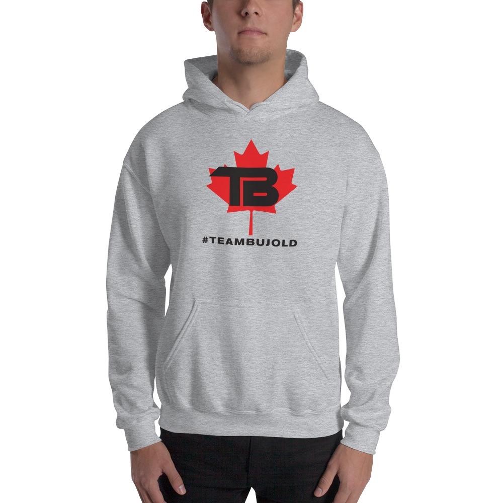 #TeamBujold Men's Hoodie, Black Logo