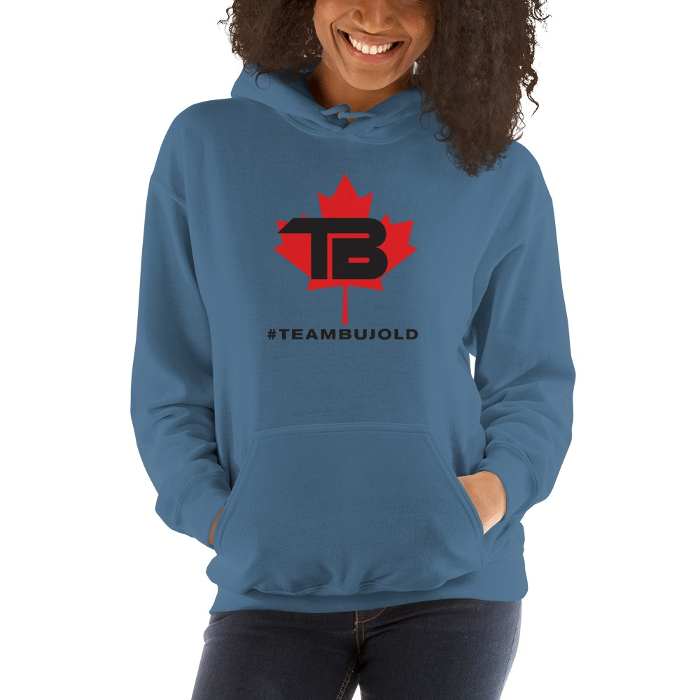 #TeamBujold Women's Hoodie, Black Logo