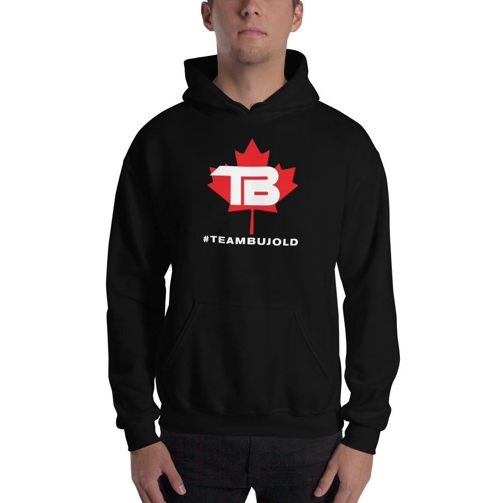 #TeamBujold Men's Hoodie, White Logo