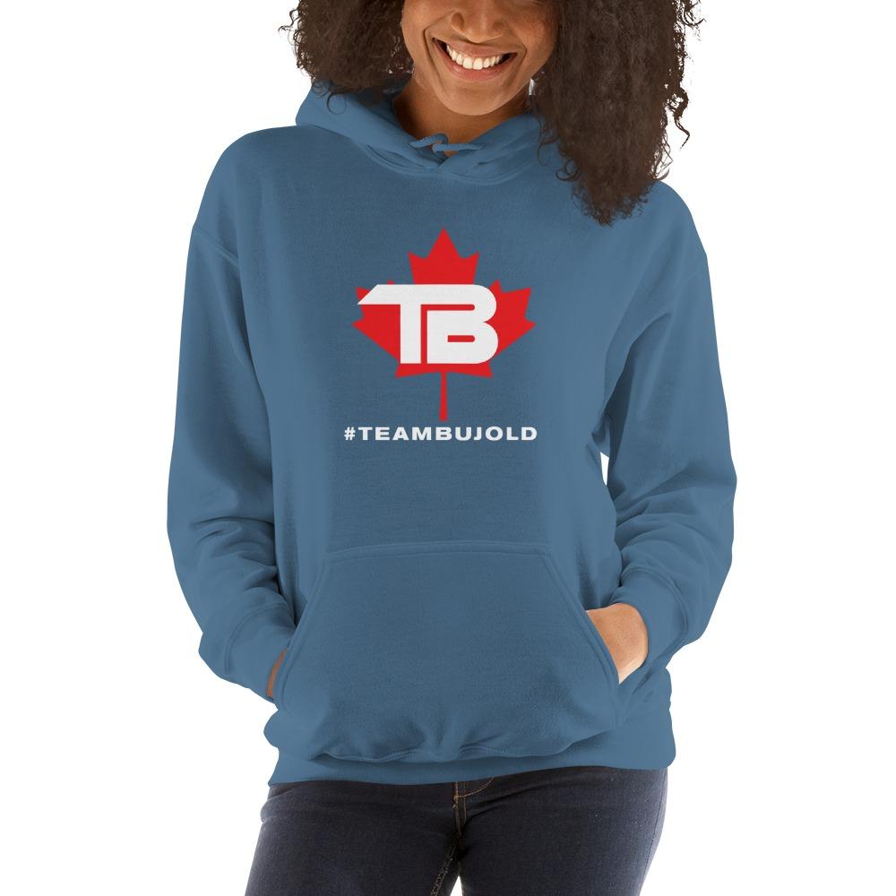 #TeamBujold Women's Hoodie, White Logo