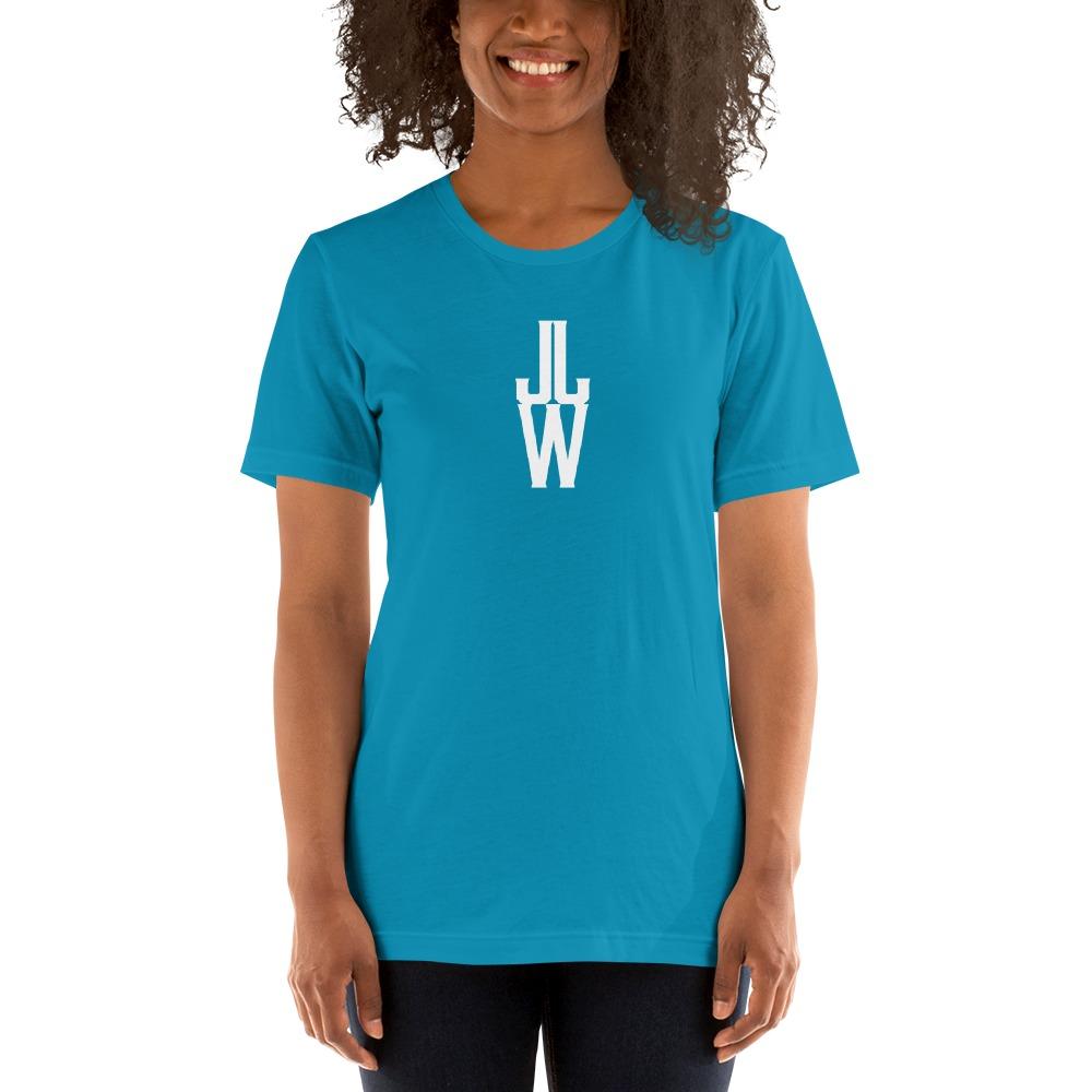 JJW by Jesse James Wallace Women's T-shirt, White Logo