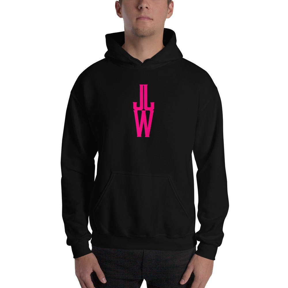 JJW by Jesse James Wallace Men's Hoodies, Pink Logo