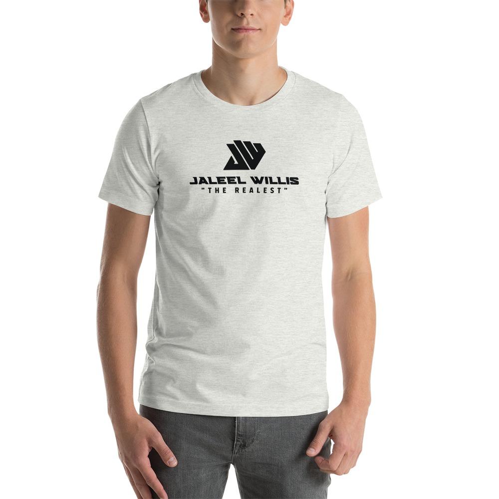 The Realest by Jaleel Willis Men's T-shirt, All Black Logo