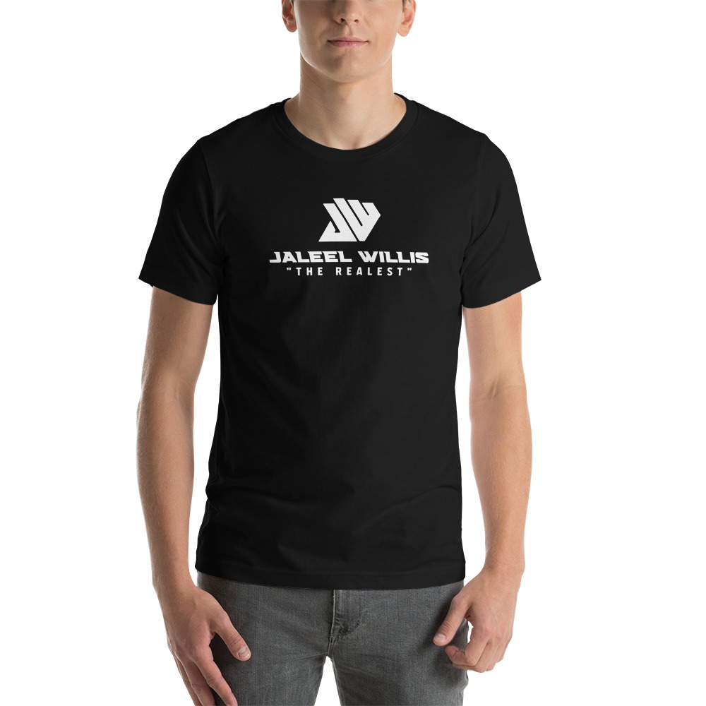 The Realest by Jaleel Willis Men's T-shirt, All White Logo