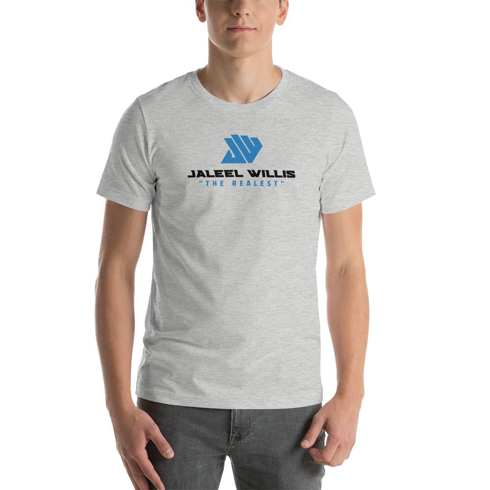 The Realest by Jaleel Willis Men's T-shirt, Blue Logo