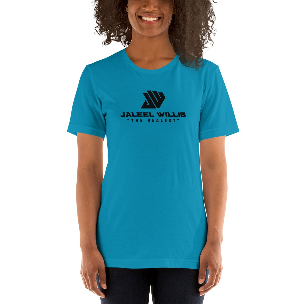 The Realest by Jaleel Willis Women's T-shirt, All Black Logo