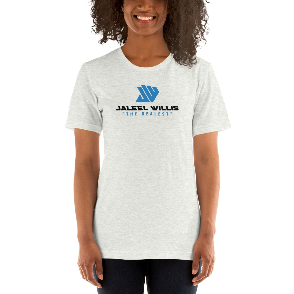 The Realest by Jaleel Willis Women's T-shirt, Blue Logo