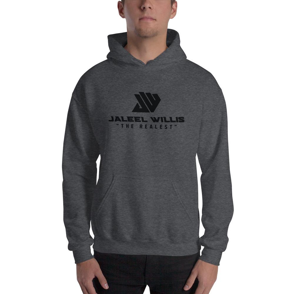 The Realest by Jaleel Willis Men's Hoodies, All Black Logo